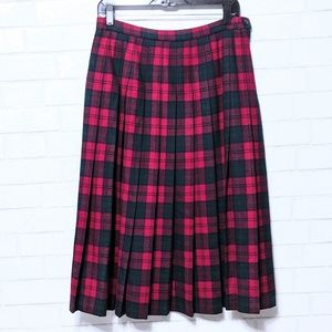 Pendleton Lindsay Tartan Plaid Wool Skirt 14P